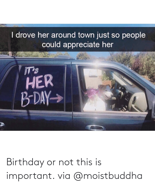 Important: Birthday or not this is important. via @moistbuddha