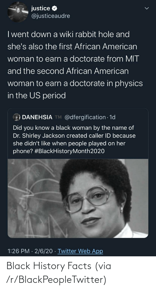 Facts: Black History Facts (via /r/BlackPeopleTwitter)