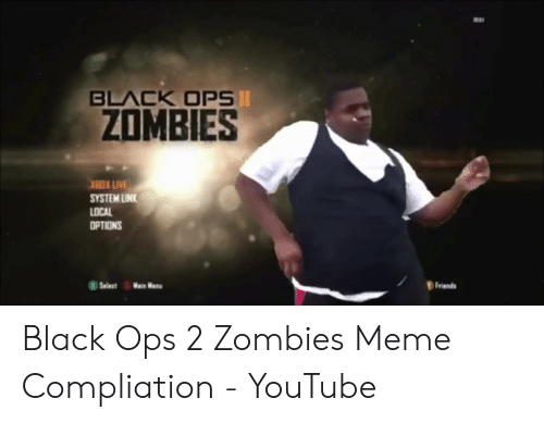 BLACK OPSI ZOMBIES XBOX LIVE SYSTEM LINK LOCAL OPTIONS