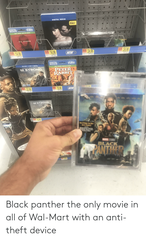 Theft: Black panther the only movie in all of Wal-Mart with an anti-theft device