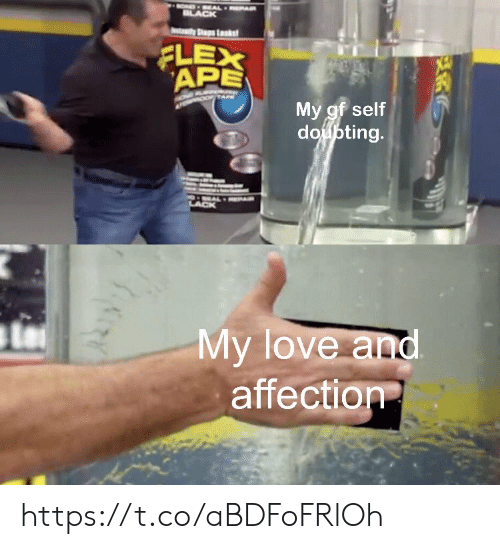 Flexing, Love, and Memes: BLACK  Sp Lkst  FLEX  APE  My gf self  doupting.  My love and  affection https://t.co/aBDFoFRlOh