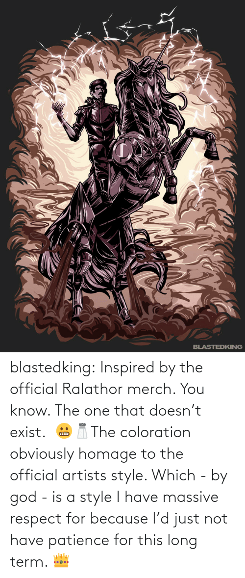 Long: blastedking:  Inspired by the official Ralathor merch. You know. The one that doesn't exist.  😬🧂The coloration obviously homage to the official artists style. Which - by god - is a style I have massive  respect for because I'd just not have patience for this long term. 👑
