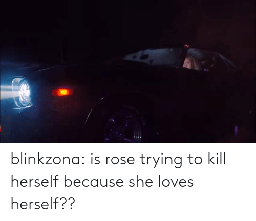Tumblr, Blog, and Rose: blinkzona:  is rose trying to kill herself because she loves herself??