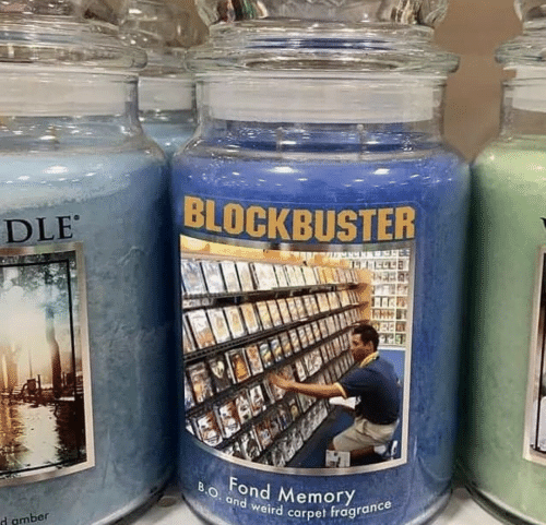 Ea: BLOCKBUSTER  DLE  EA  BO. and weird carpet fragrance  Fond MemoryY  d amber