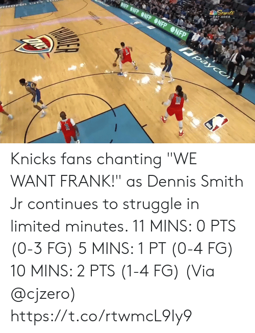 "kia: BLUE SEATS  KIA  MIS BUDY'S FOR YOU.  TH  FOR  BONUS  BONUS  29.6  81  76  3RD 24  AMSG  BOS  NYK  LIVE  s, 2 reb, 4 ast, 1 blk L Smith: 10 pts, 2 reb, 3 astTV  NBA SCORES  WIZARDS Knicks fans chanting ""WE WANT FRANK!"" as Dennis Smith Jr continues to struggle in limited minutes.   11 MINS: 0 PTS (0-3 FG) 5 MINS: 1 PT (0-4 FG) 10 MINS: 2 PTS (1-4 FG)  (Via @cjzero)  https://t.co/rtwmcL9Iy9"