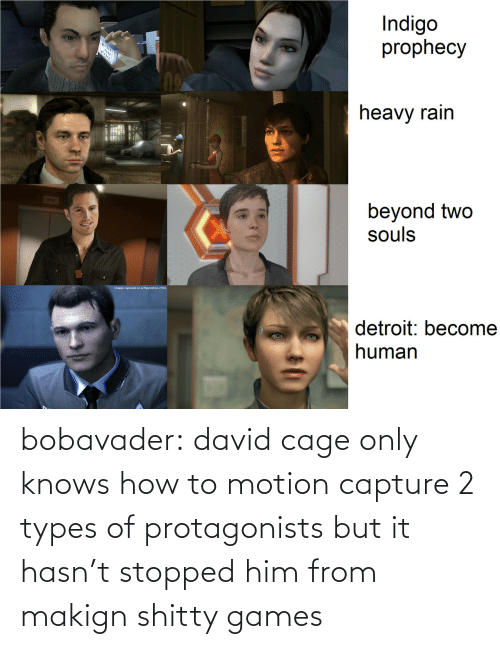 Knows How To: bobavader: david cage only knows how to motion capture 2 types of protagonists but it hasn't stopped him from makign shitty games