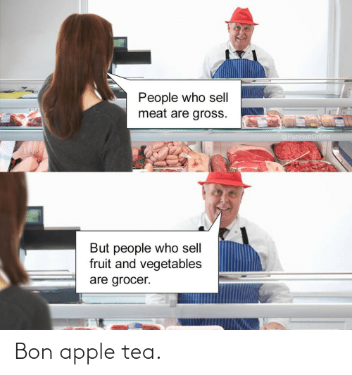 tea: Bon apple tea.