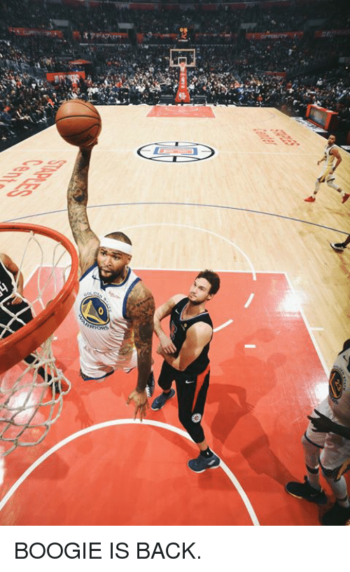 Back and Boogie: BOOGIE IS BACK.