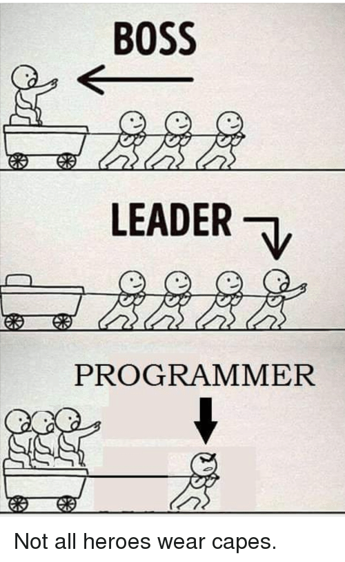 Heroes, Boss, and All: BOSS  LEADER  PROGRAMMER Not all heroes wear capes.