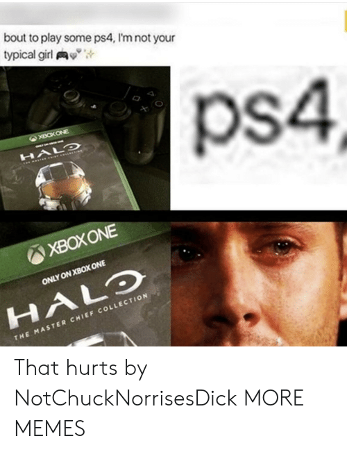 "Dank, Halo, and Memes: bout to play some ps4, I'm not your  typical girl y"",  ps4  XBOXONE  ONLY ON XBOX ONE  HALO  CHI  THE MASTER CHIEF COLLECTION That hurts by NotChuckNorrisesDick MORE MEMES"