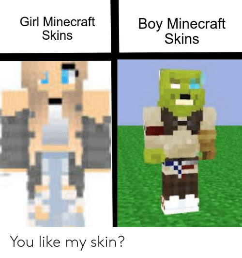 Is This A Roblox Or Minecraft Skin Meme On Meme