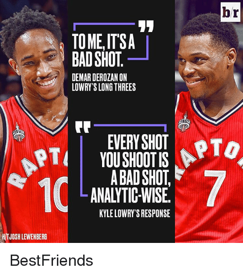 Kyle Lowry, Sports, and Otis: br  TOMELITSA  BAD SHOT  DEMARDEROZANON  LOWRY'S LONG THREES  SHOT PTO  OTI YOU SHOOTIS  ABAD SHOT  LANALYTIC-WISE.  KYLE LOWRY SRESPONSE  HITJOSHLEWENBERG BestFriends