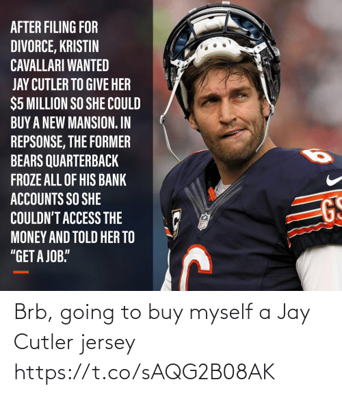 NFL: Brb, going to buy myself a Jay Cutler jersey https://t.co/sAQG2B08AK