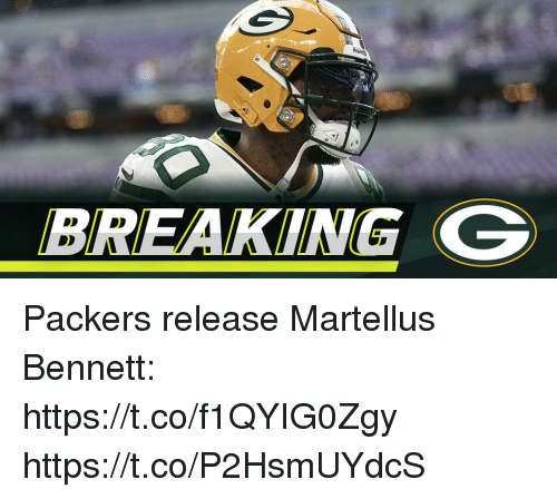 Memes, Packers, and 🤖: BREAKING G Packers release Martellus Bennett: https://t.co/f1QYIG0Zgy https://t.co/P2HsmUYdcS