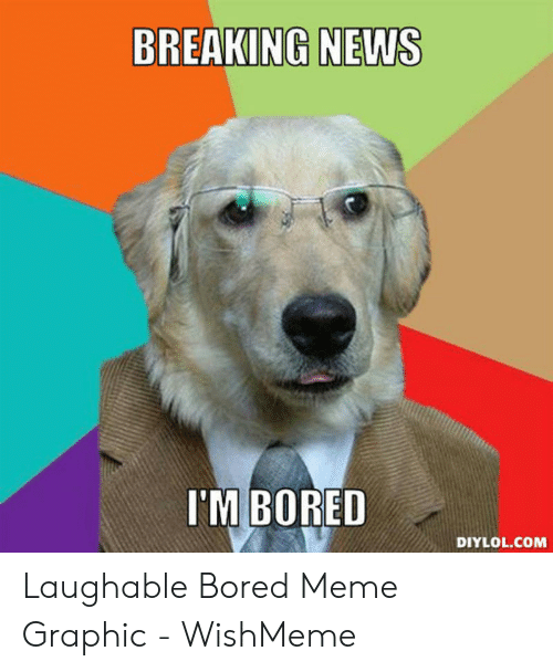 Wishmeme: BREAKING NEWS  I'M BORED  DIYLOL.COM Laughable Bored Meme Graphic - WishMeme