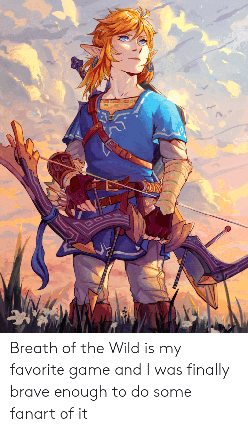 Brave, Game, and Wild: Breath of the Wild is my favorite game and I was finally brave enough to do some fanart of it