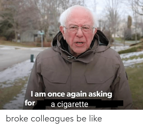 colleagues: broke colleagues be like