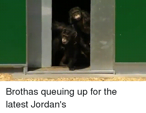 Brothas: Brothas queuing up for the latest Jordan's