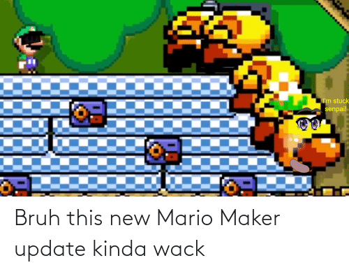 Mario: Bruh this new Mario Maker update kinda wack