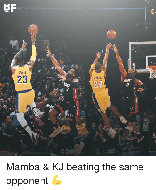 Memes, Heat, and 🤖: BRYANT  HEAT  AMES  23  24  MIAN Mamba & KJ beating the same opponent 💪
