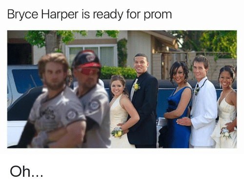 Bryce Harper, For, and  Ready: Bryce Harper is ready for prom Oh...