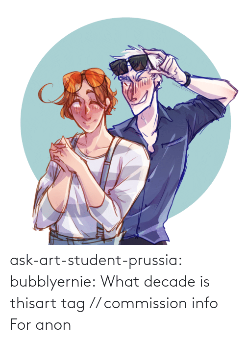 Tagged: bubblyerne ask-art-student-prussia:  bubblyernie:  What decade is thisart tag // commission info   For anon