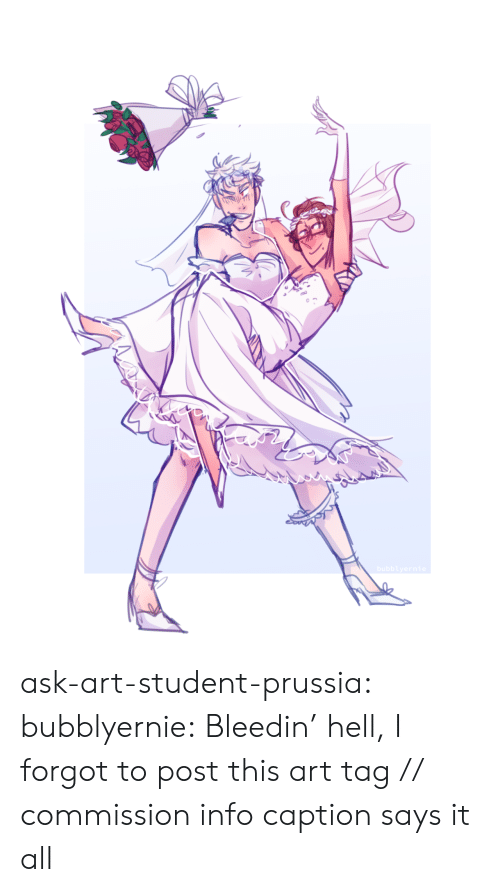 Ask Art: bubblyernie ask-art-student-prussia:  bubblyernie: Bleedin' hell, I forgot to post this art tag // commission info  caption says it all