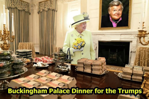 palace: Buckingham Palace Dinner for the Trumps