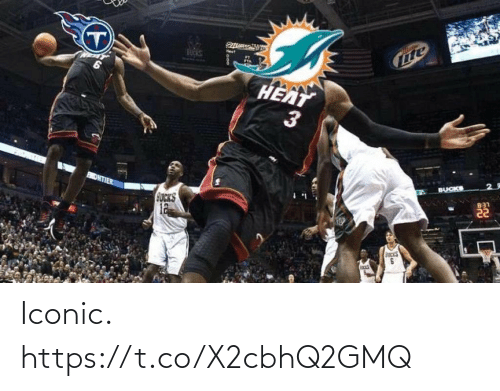 ballmemes.com: BUCKS  HEAT  BUCKS  ONTIER  B31  GUCKS  12  3. Iconic. https://t.co/X2cbhQ2GMQ