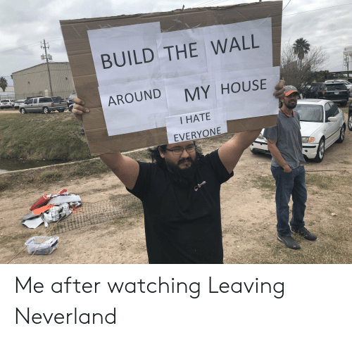 My House, House, and The Wall: BUILD THE WALL  AROUND  MY HOUSE  I HATE  EVERYONE Me after watching Leaving Neverland