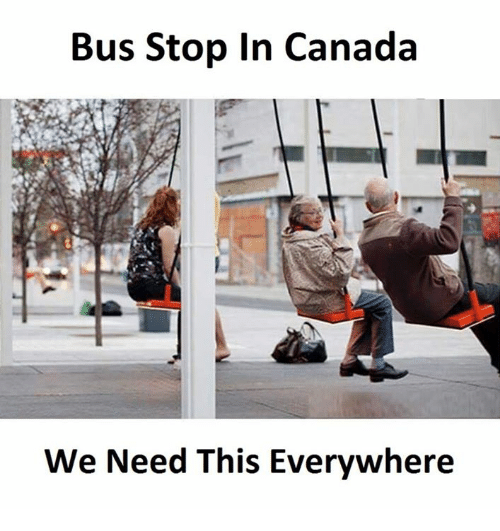 Canadã¡: Bus Stop In Canada  We Need This Everywhere