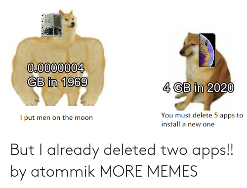 But I: But I already deleted two apps!! by atommik MORE MEMES