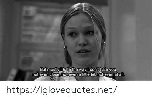 Net, All, and You: But mostly Ihate the way I don't hate you  not even close, noteven a little bit, not even at all https://iglovequotes.net/