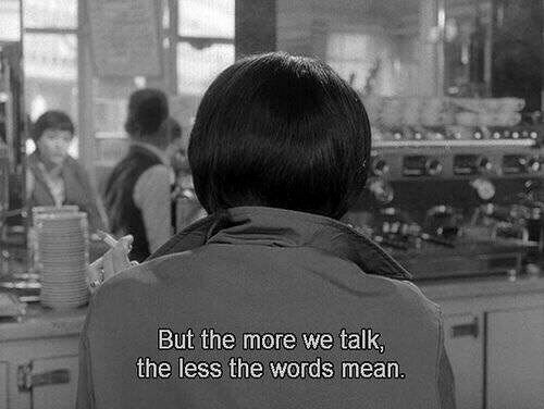 Mean, The Words, and Words: But the more we talk  the less the words mean