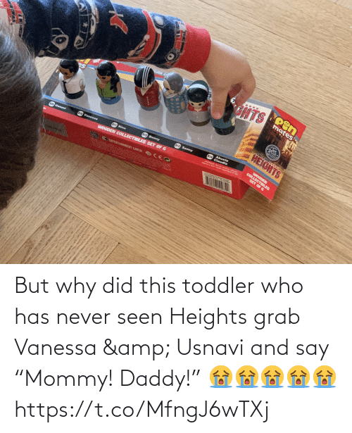 "grab: But why did this toddler who has never seen Heights grab Vanessa & Usnavi and say ""Mommy! Daddy!"" 😭😭😭😭😭 https://t.co/MfngJ6wTXj"