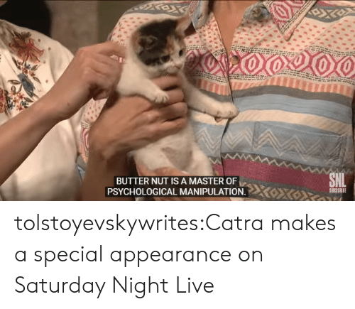 Subscribe: BUTTER NUT IS A MASTER OF  SUBSCRIBE  PSYCHOLOGICAL MANIPULATION. tolstoyevskywrites:Catra makes a special appearance on Saturday Night Live