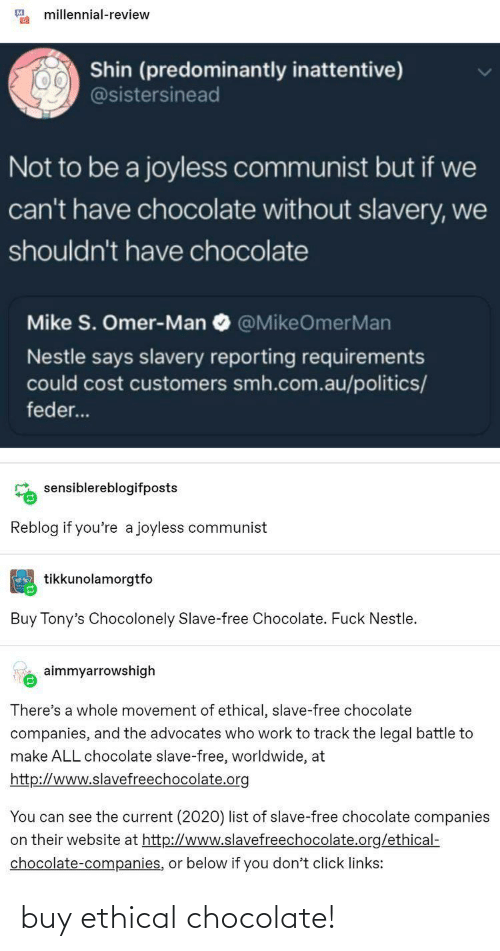 Chocolate: buy ethical chocolate!