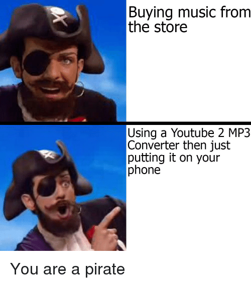 Buying Music From the Store Using a Youtube 2 MP3 Converter Then