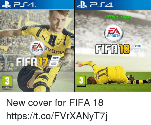 fif: BVB  SPORTS  SV  FIFA  FIF  PROVISIONAL  www.peglinto  FUTBOL TROLL  ZA  SPORTS  FIFTAB  FIFA New cover for FIFA 18 https://t.co/FVrXANyT7j