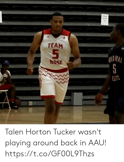 AAU: C  Co  Oly  TEAM  RAD REAL  ROSE  ELIS Talen Horton Tucker wasn't playing around back in AAU! https://t.co/GF00L9Thzs