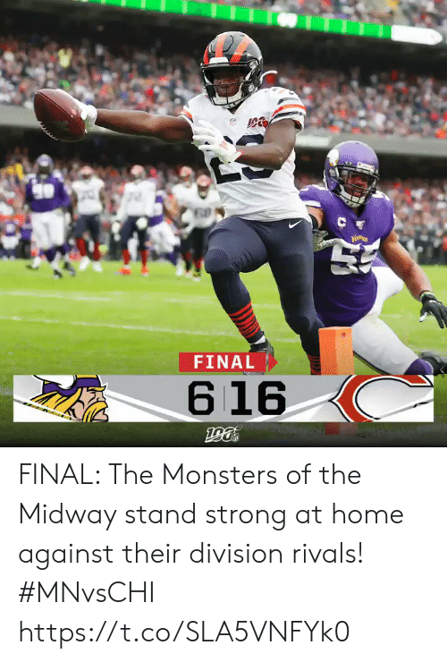 Memes, Home, and Rivals: C  FINAL  616 FINAL: The Monsters of the Midway stand strong at home against their division rivals!  #MNvsCHI https://t.co/SLA5VNFYk0