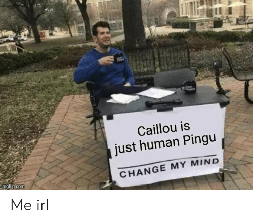 Caillou Is Just Human Pingu CHANGE MY MIND Imgflipcom Me Irl