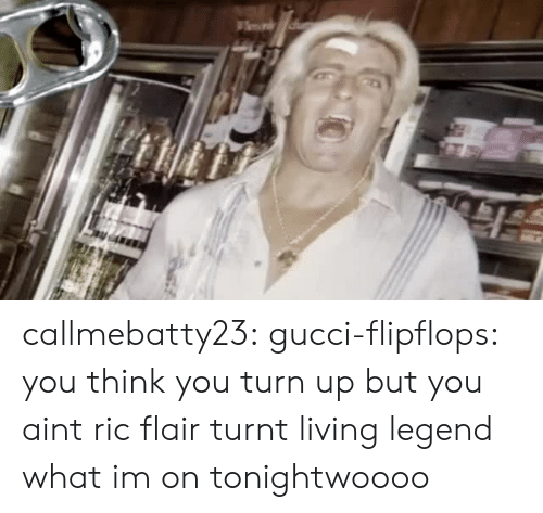 Woooo: callmebatty23:  gucci-flipflops:  you think you turn up but you aint ric flair turnt  living legend  what im on tonightwoooo