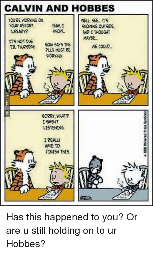 25 Best Memes About Calvin And Hobbs Calvin And Hobbs Memes