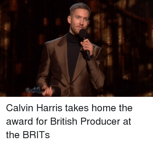 brits: Calvin Harris takes home the award for British Producer at the BRITs