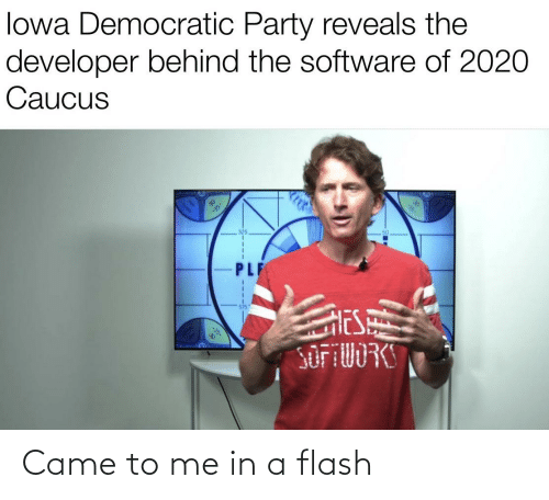 In A Flash: Came to me in a flash