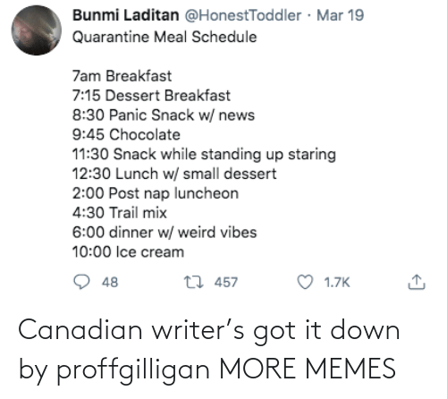 Canadian: Canadian writer's got it down by proffgilligan MORE MEMES