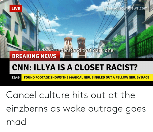 Goes: Cancel culture hits out at the einzberns as woke outrage goes mad