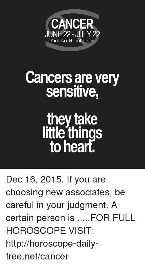 CANCER JUNE 22-July 22 ZodiacMind Com Cancers Are Very