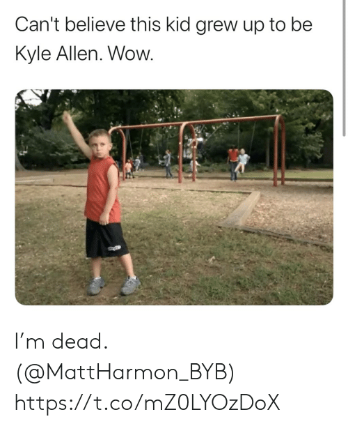believe: Can't believe this kid grew up to be  Kyle Allen. Wow. I'm dead. (@MattHarmon_BYB) https://t.co/mZ0LYOzDoX